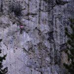 hiking mary jane falls-rock climber